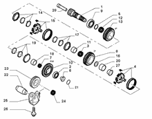 21215-031 UPPER SECONDARY SHAFT AND GEAR LEAD
