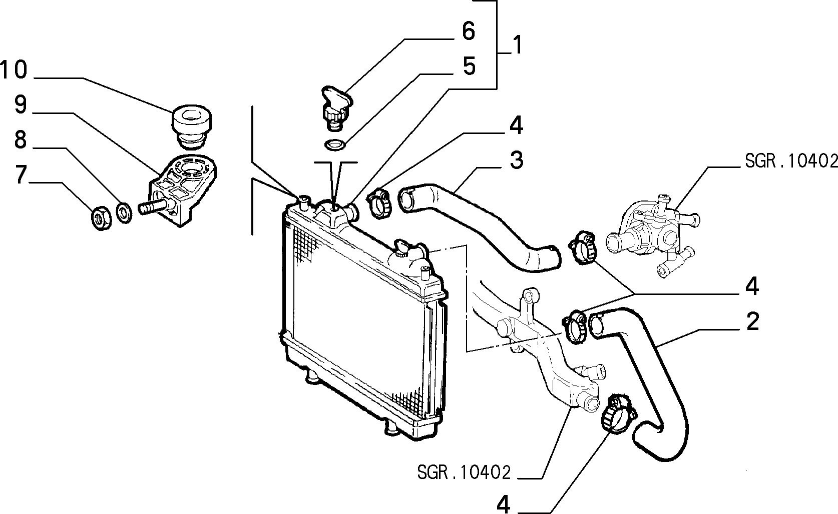 10401/02 РАДИАТОР И ТРУБОПРОВОДЫ
