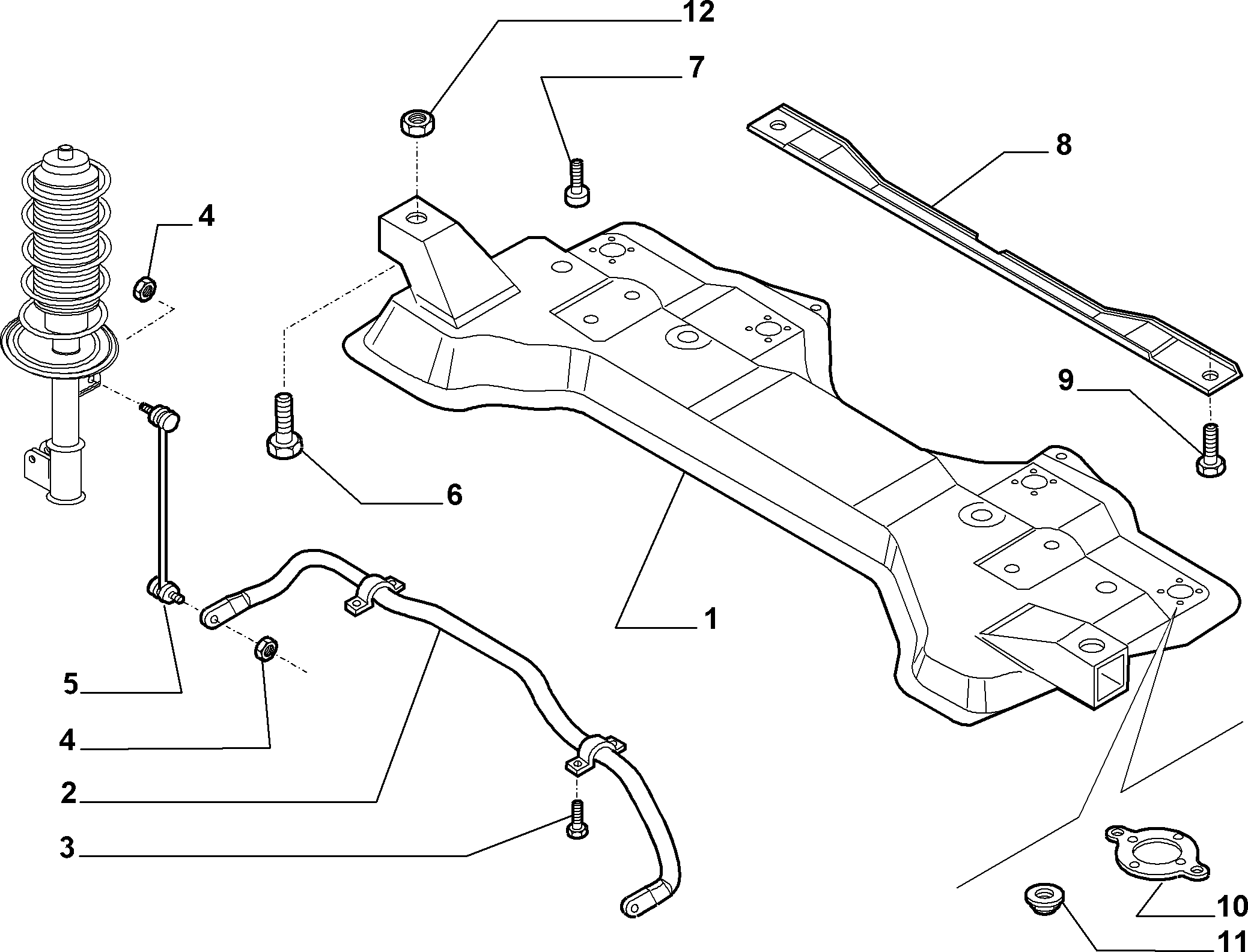 44301-030 CROSS ARM AND TORSION BAR