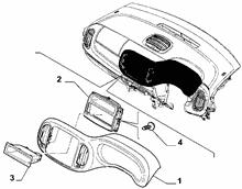 70502-020 DASHBOARD INSTRUMENT HOLDER DIALS