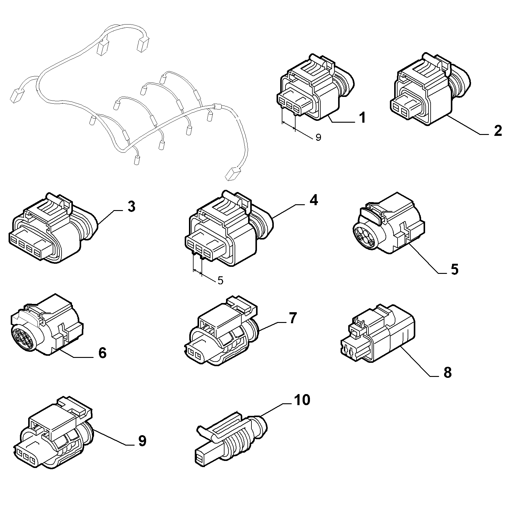 10226-060 ENGINE HARNESS CONNECTORS