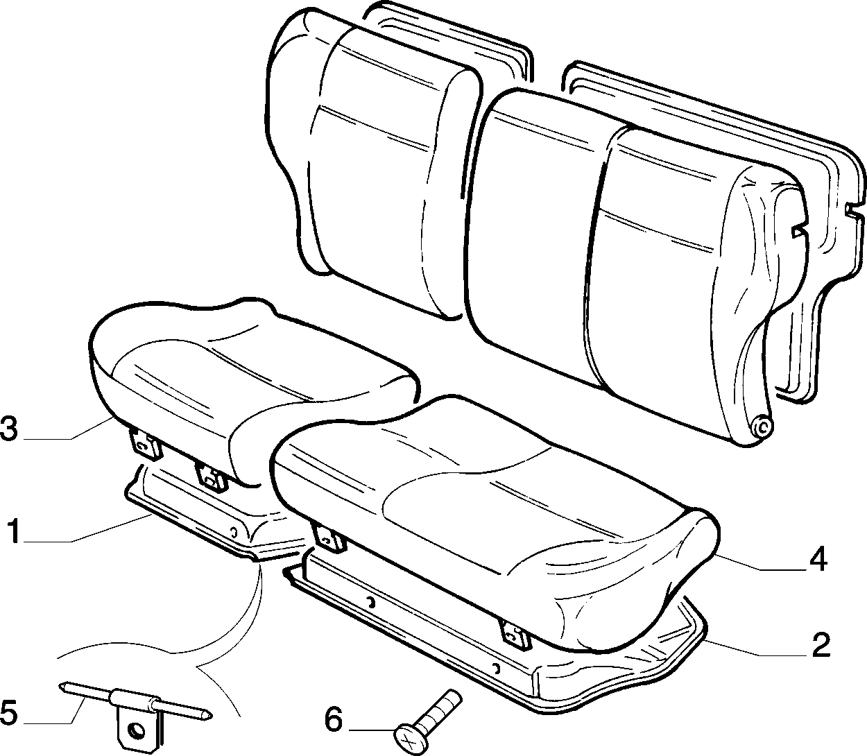70613/06 REAR SEAT
