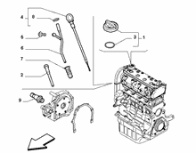 10301-060 DIP STICK, CAP, TRANSMITTER AND PRESSURE ROD