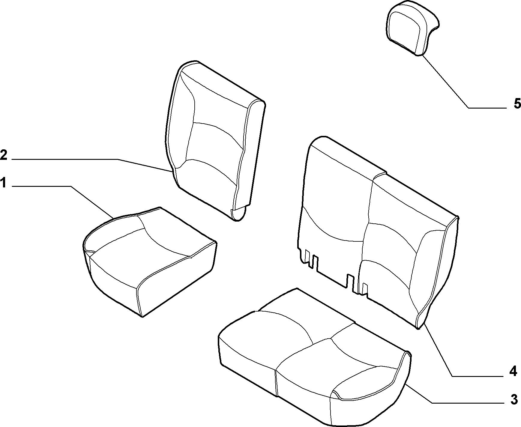 70613/07 REAR SEAT