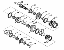 21215-032 LOWER SECONDARY SHAFT AND GEAR LEAD