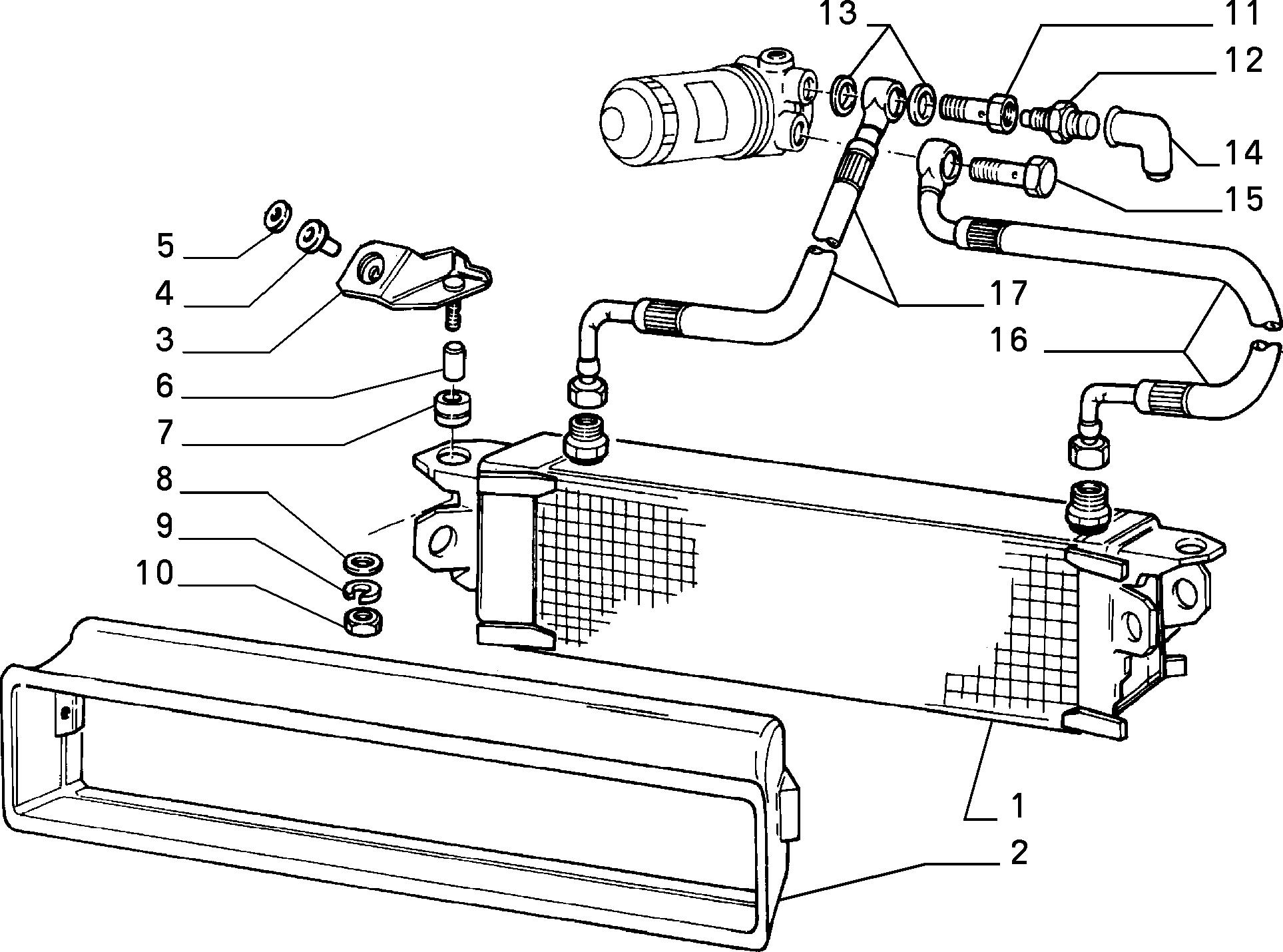 Uno uno mondo (1995-.  Масляный радиатор.  Fiat.