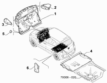 70522-020 PASSENGER COMPARTMENT INSULATION AND PADDING