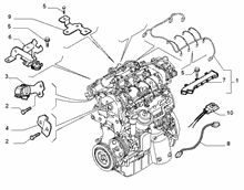 10226-040 ENGINE HARNESS AND SUPPORTS