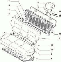 70613/01 REAR SEAT