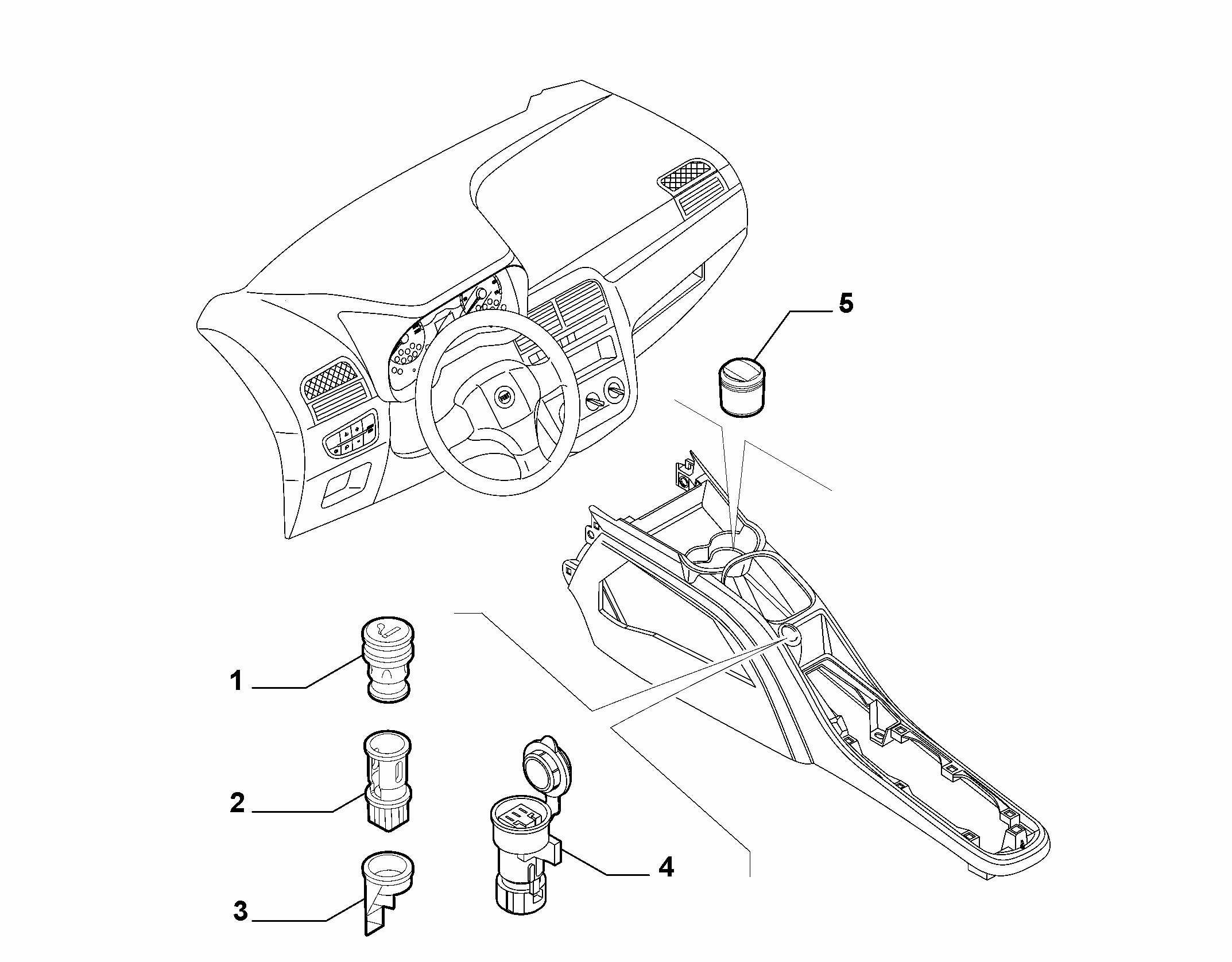 70504-030 ASHTRAY AND ACCESSORIES