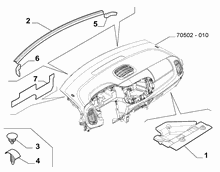 70502-080 DASHBOARD SOUNDPROOFING