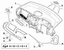 70502-010 DASHBOARD INSTRUMENT HOLDER