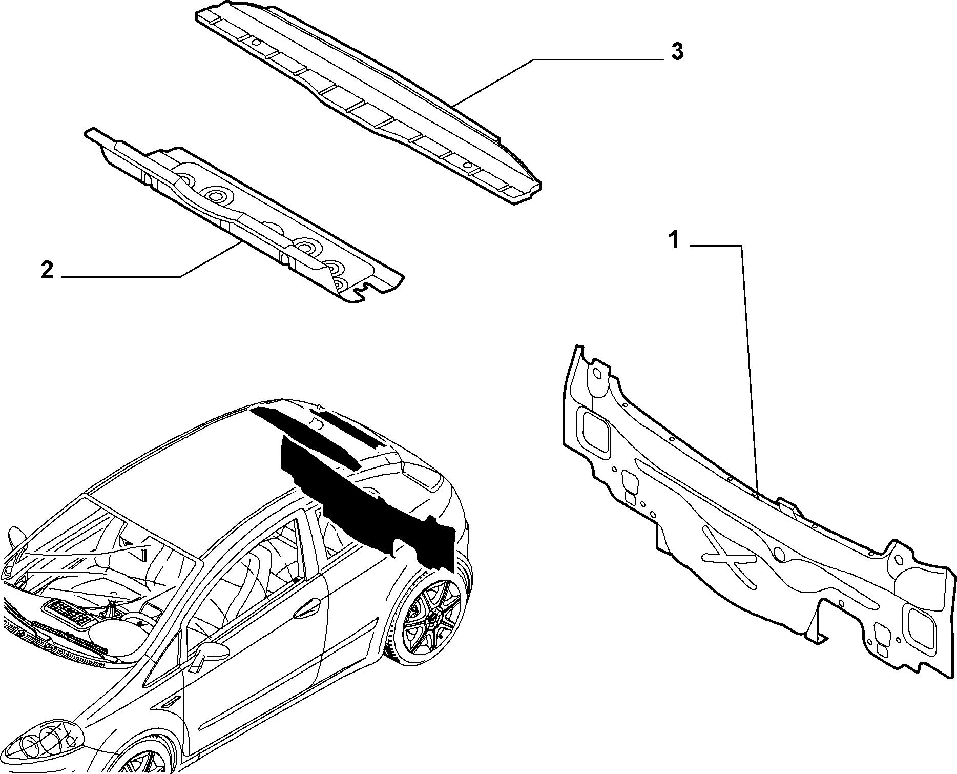 70004-030 REAR CENTRAL CROSSRAIL