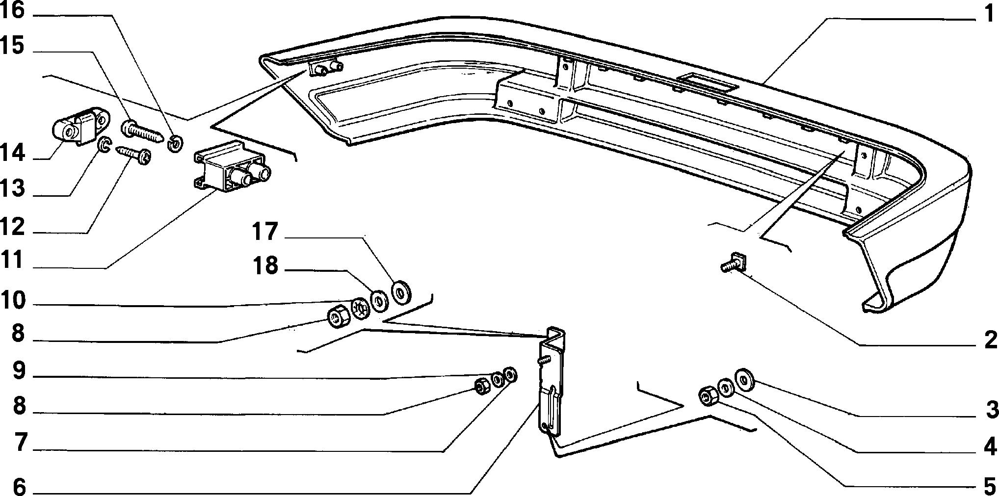 70727/00 ЗАДНИЙ БАМПЕР