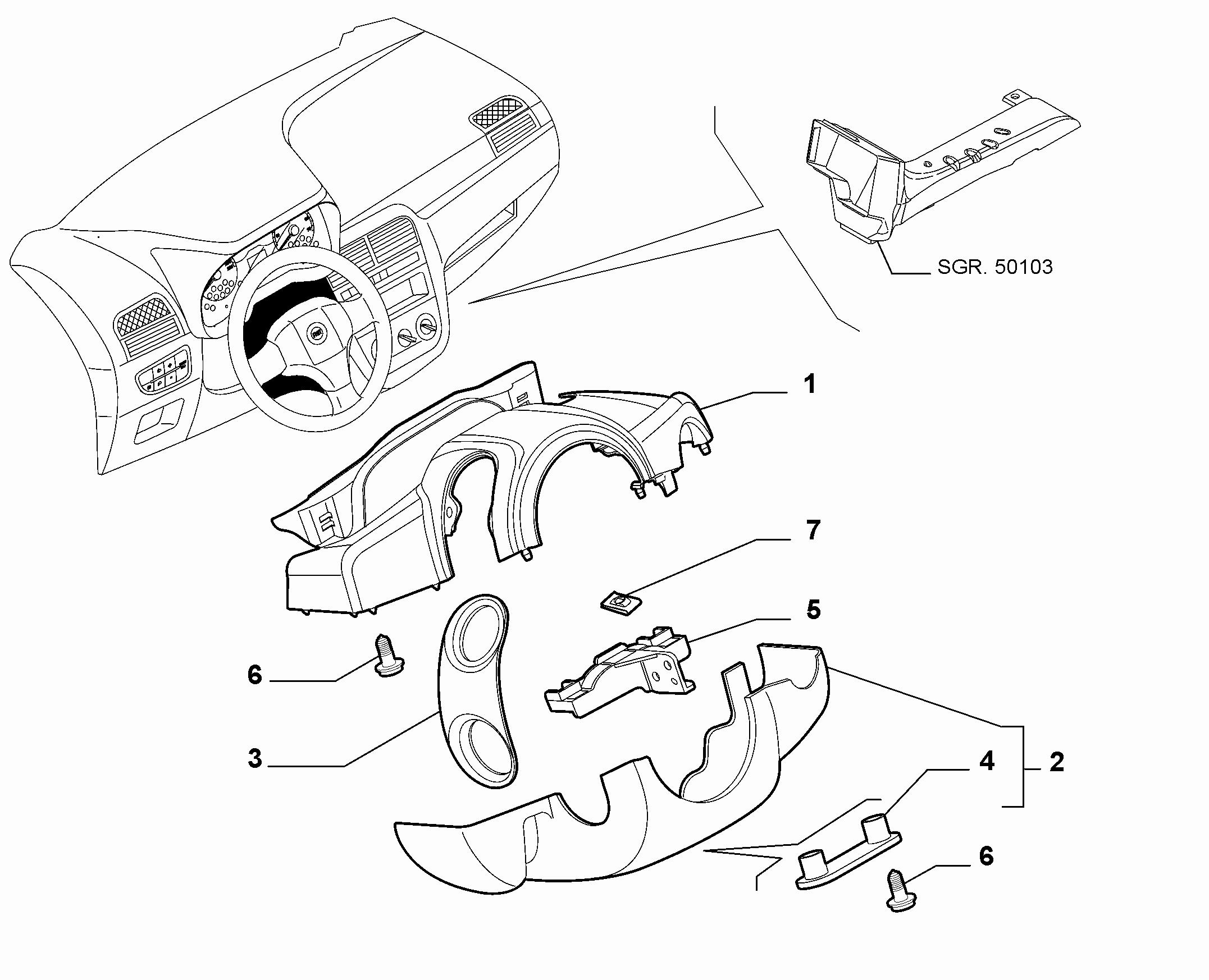 70502-060 STEERING COLUMN GUARDS