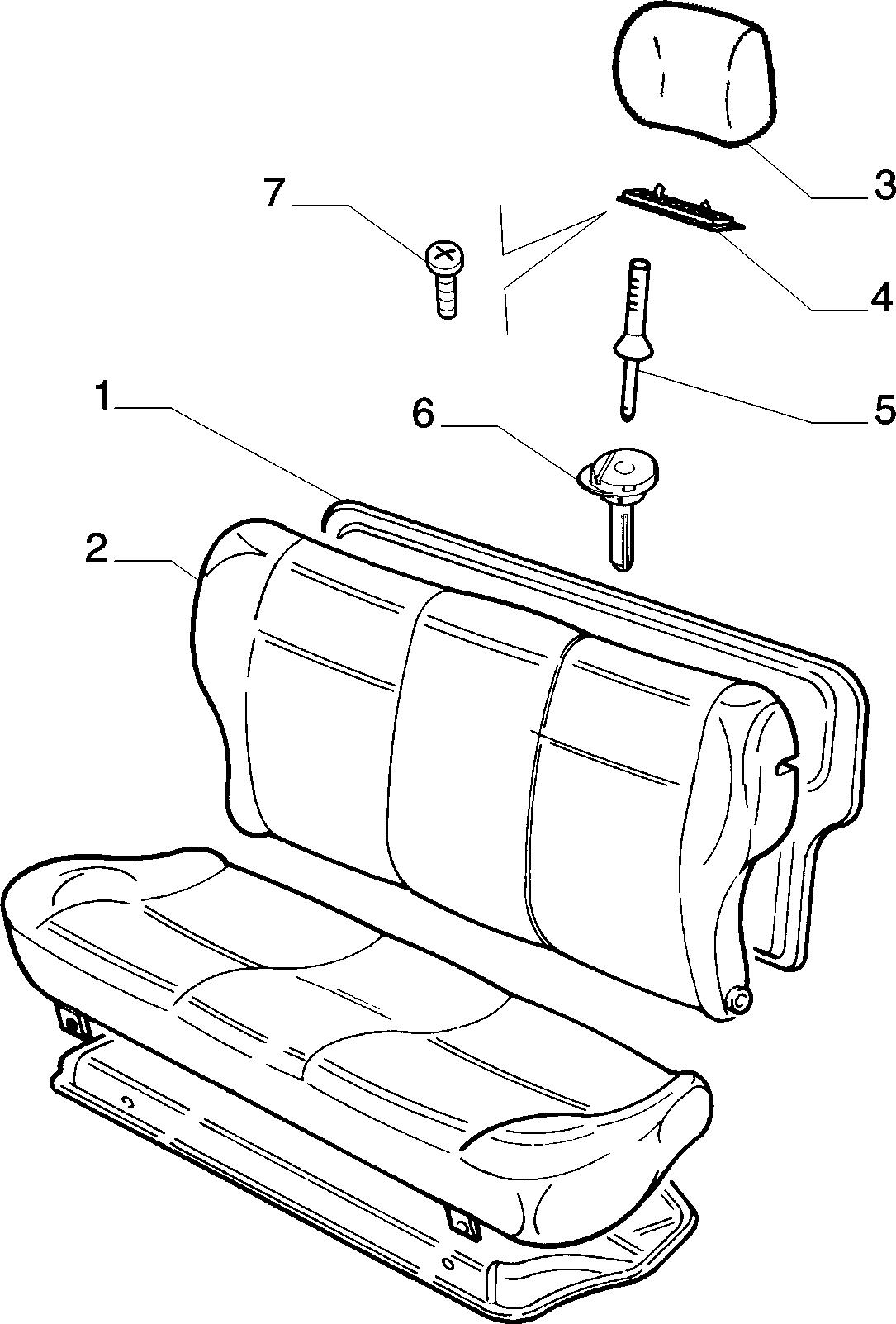 70613/03 REAR SEAT