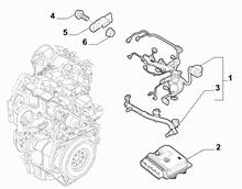 10226-045 ENGINE CABLES AND ECU ASSY (CC0.9)