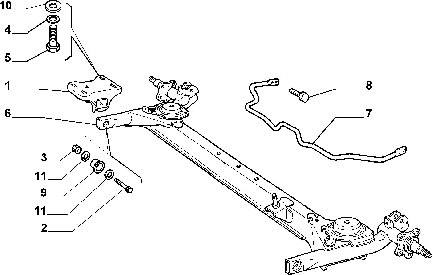 44305/02 ЗАДНИЕ ПОДВЕСКИ