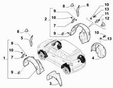 70723-010 WHEEL CARRIAGE COVER