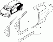 70019-020 REAR AND FRONT BEVELED SIDE FRAME