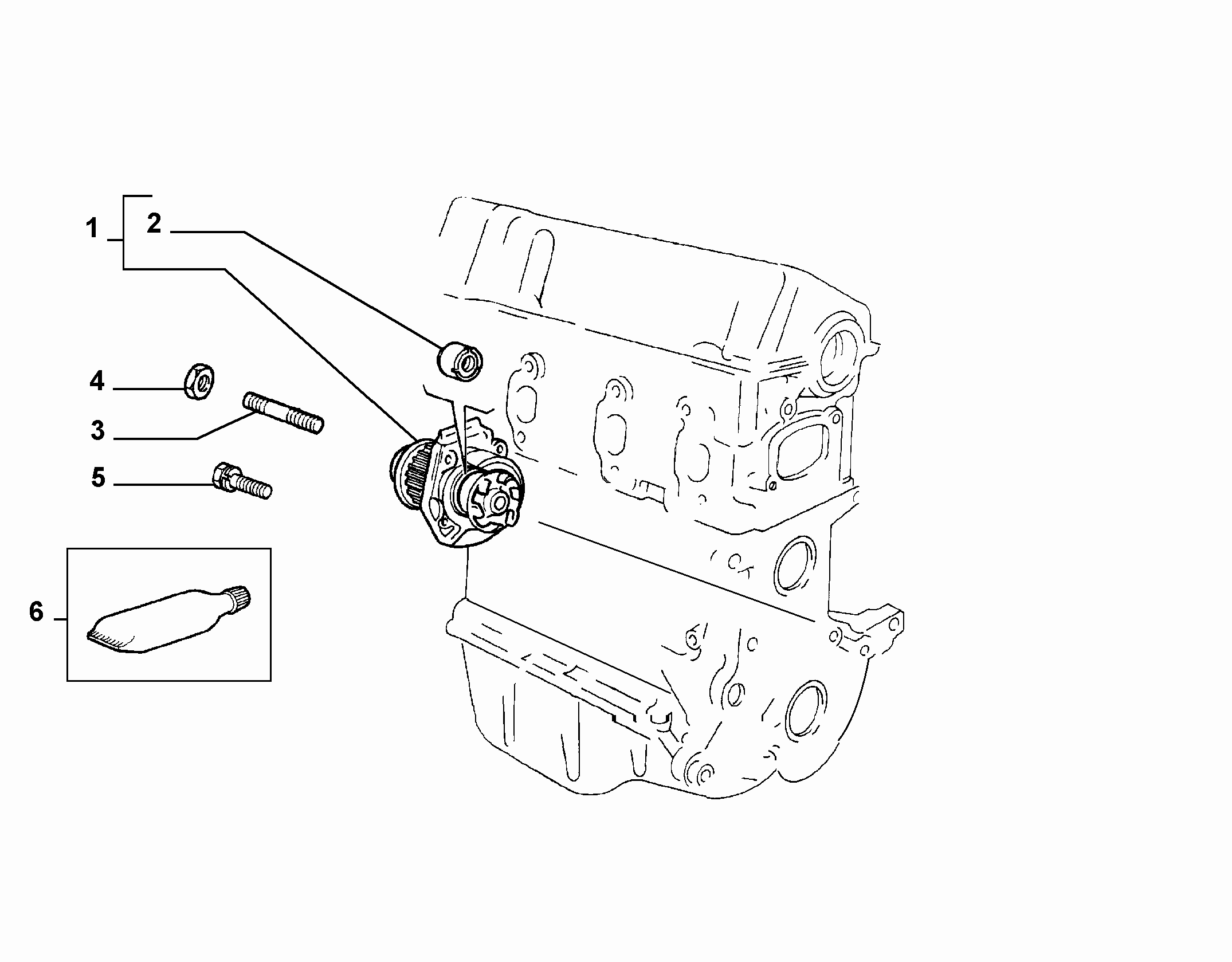 10402-010 WATER PUMP AND GASKETS