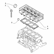 10101-020 CYLINDER HEAD AND GASKETS
