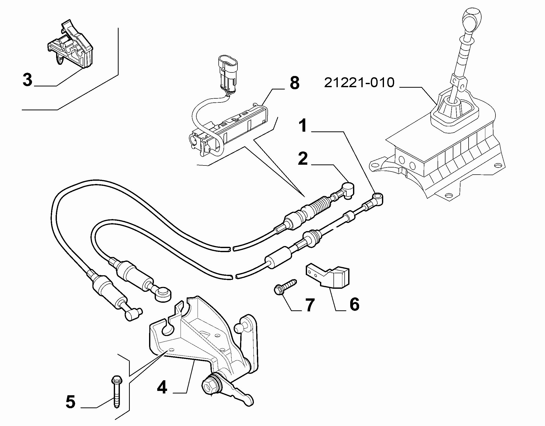 21221-020 GEAR STICK FLEX SHAFT