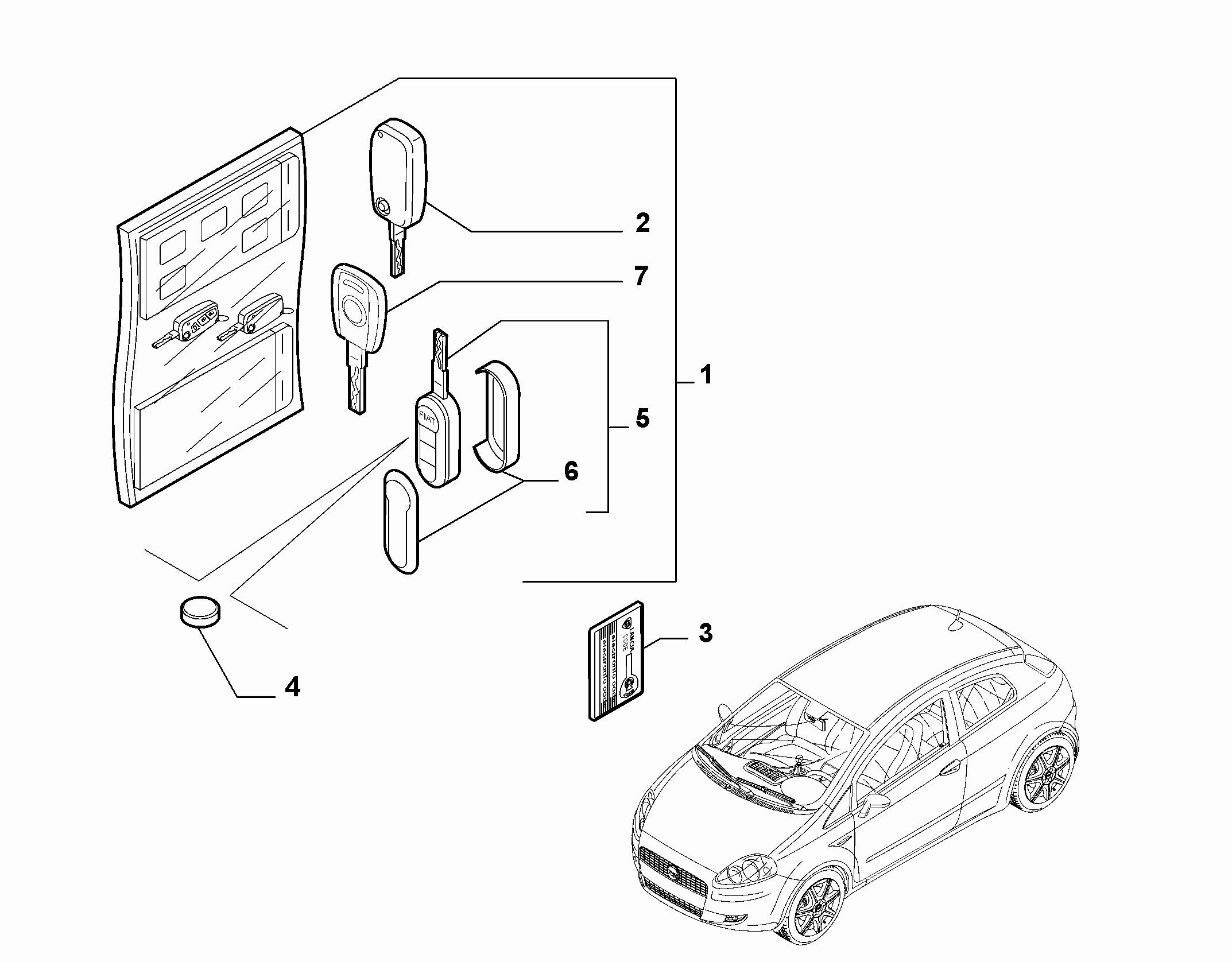 55202-020 KEY KIT AND OPENING SYSTEM