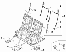 70613-022 SECOND ROW REAR SEAT FRAMES