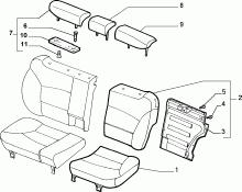 70613/00 REAR SEAT