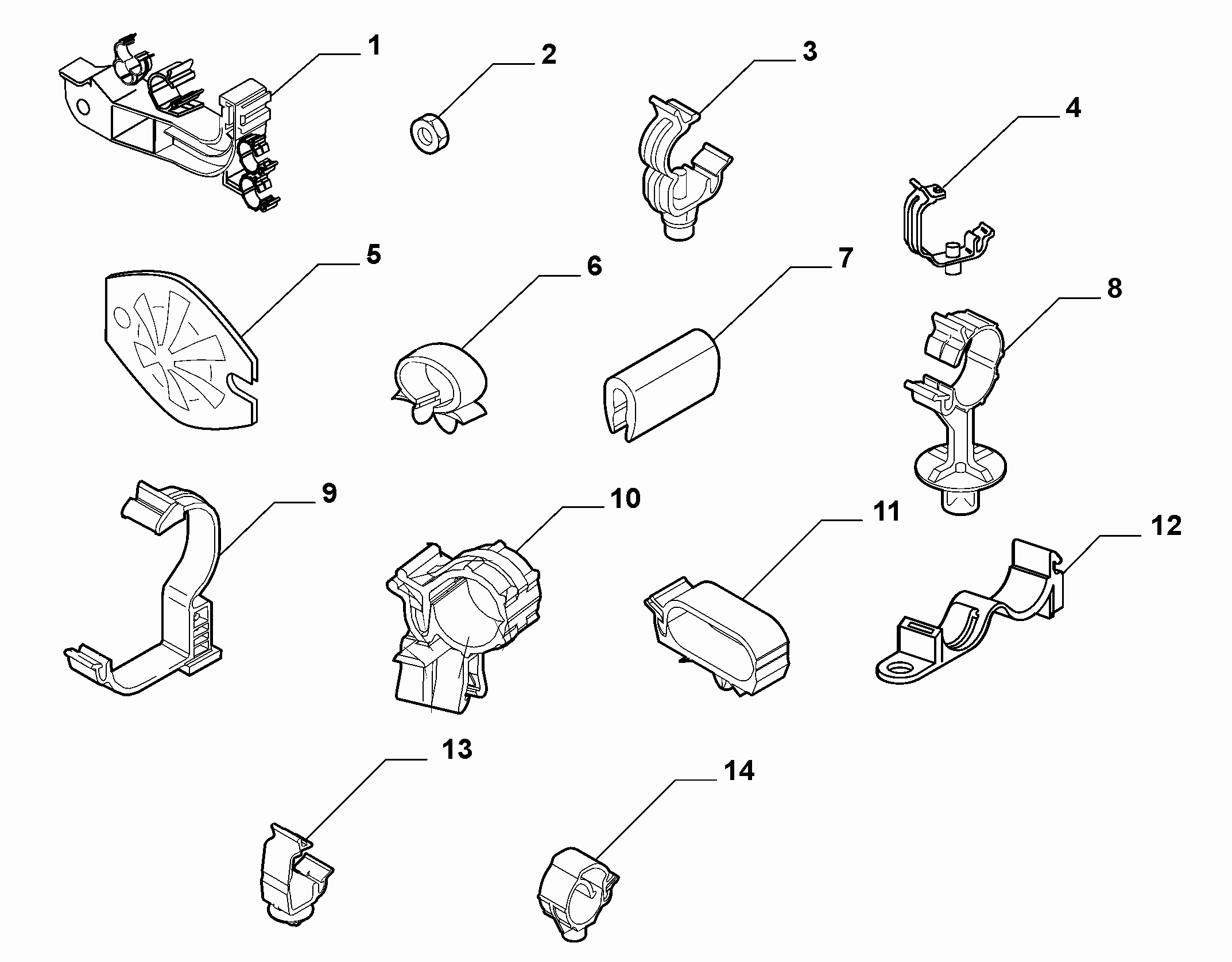 55527-010 CABLE SET FIXINGS