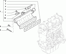 10255-010 INTAKE MANIFOLD AND BUTTERFLY CLIPS