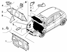 70522-010 BONNET AND ENGINE PADDING AND INSULATION