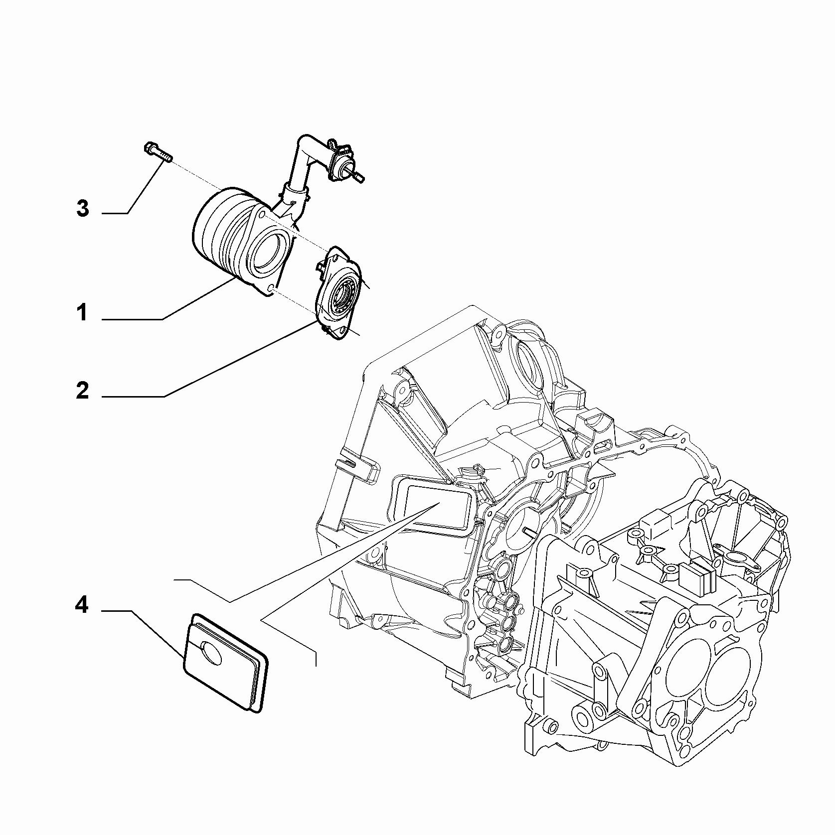 21207-040 HYDRAULIC ACTUATOR CLUTCH RELEASE