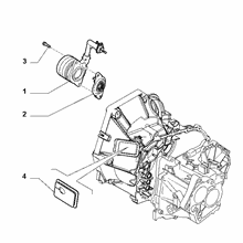 21207-040 HYDRAULIC ACTUATOR CLUTCH RELEASE
