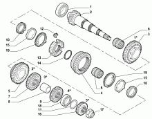 21215-030 SECONDARY SHAFT AND GEAR LEAD