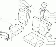 70613/04 REAR SEAT