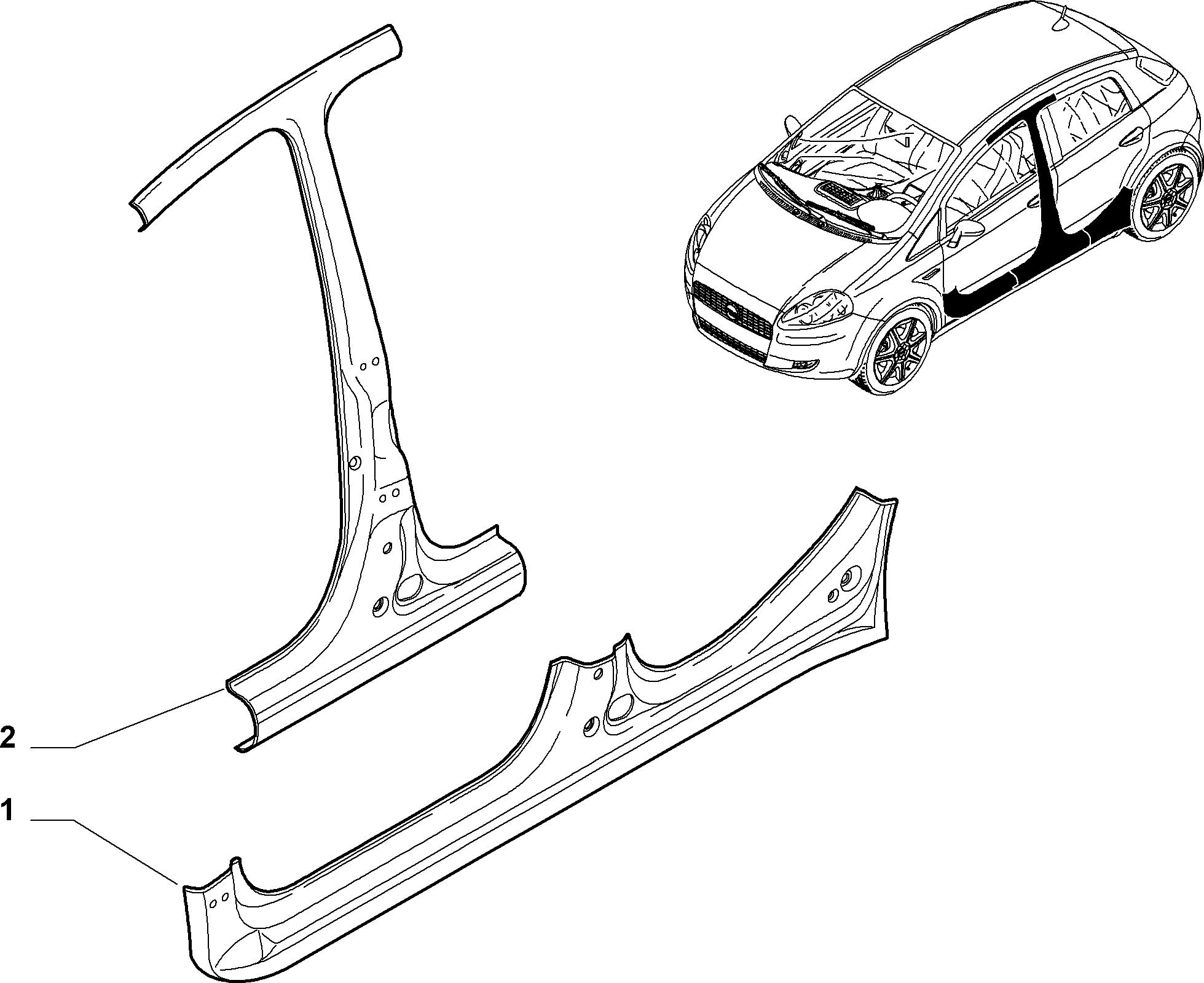 70019-025 SIDE PANEL (CENTRAL)