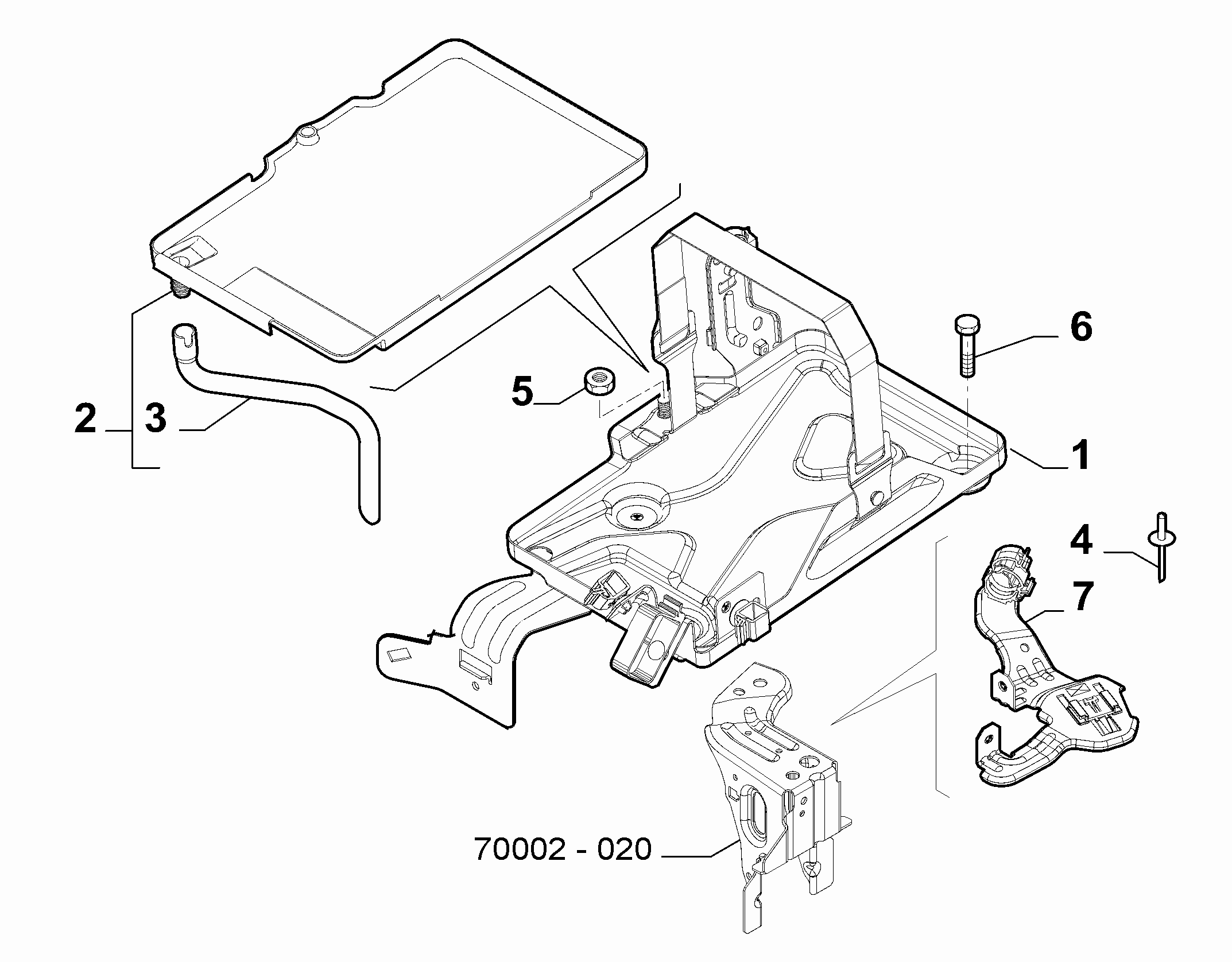 55300-030 BATTERY SUPPORT