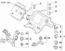10225-020 INJECTION ECU AND ENGINE HARNESS FASTENERS