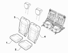 70613-012 SECOND ROW REAR SEAT CUSHIONS