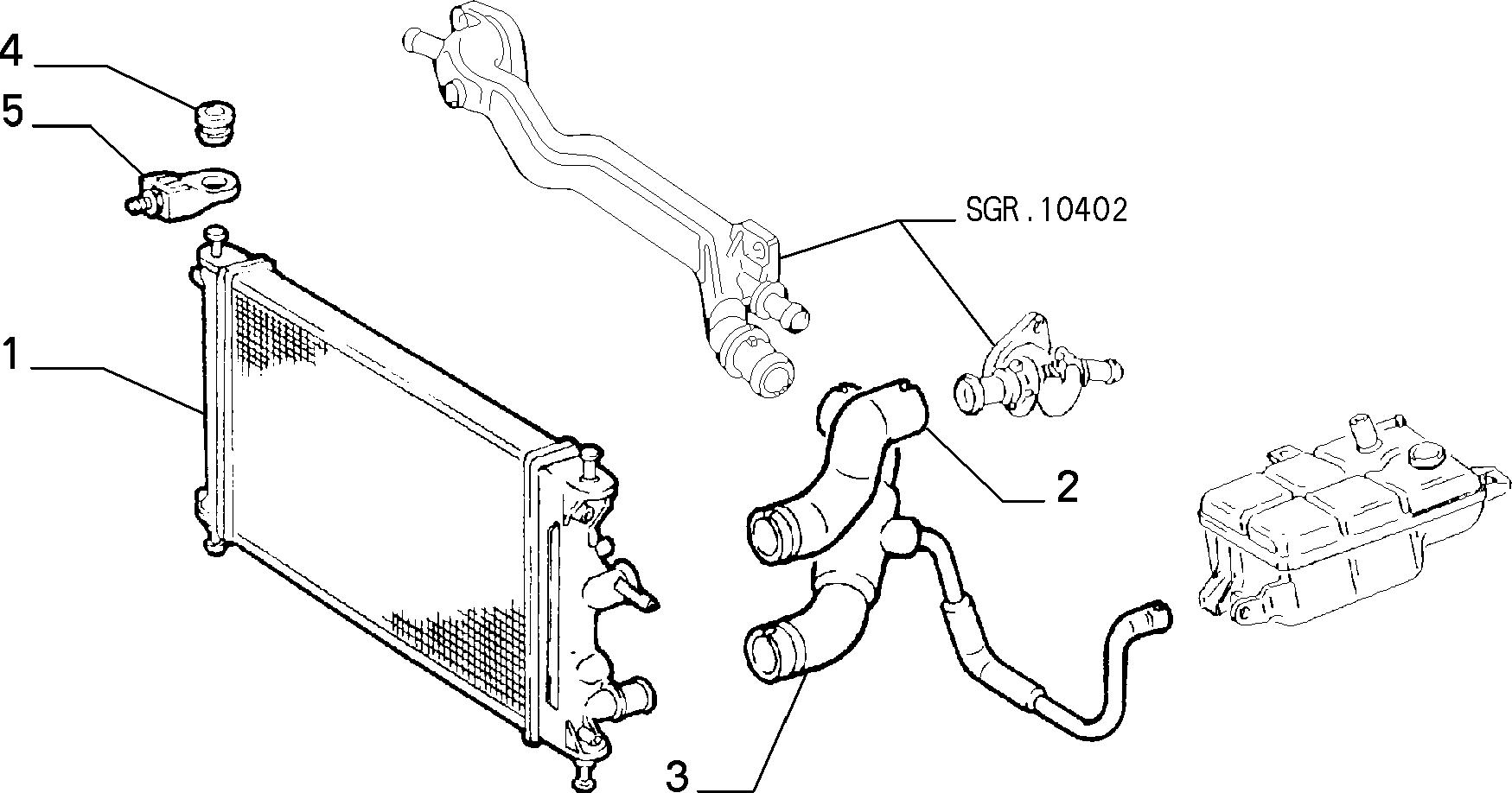 10401/01 РАДИАТОР И ТРУБОПРОВОДЫ
