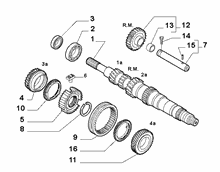 21215-010 PRIMARY SHAFT AND GEAR LEAD